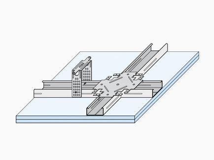 Οροφή  γυψοσανίδας με ομοεπίπεδο σκελετό