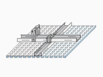 Οροφή διάτρητης γυψοσανίδας