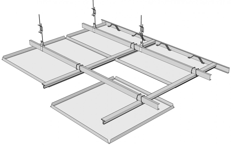 Λεπτομέρεια οροφής μεταλλικών πλακών