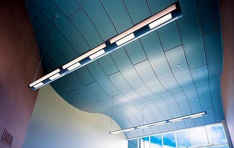 Παράδειγμα οροφής μεταλλικών πλακών
