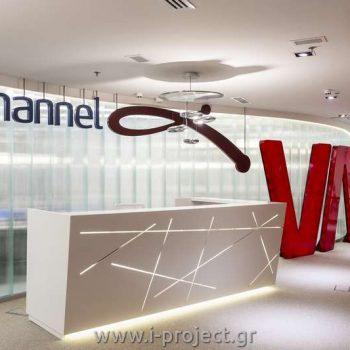ειδικές κατασκευές γυψοσανίδας, γραφεία Channel VA SA Ελλάδας