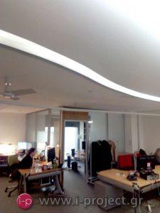 Ανακαίνιση με κατασκευές ξηράς δόμησης στη διαφημιστική εταιρία TEMPO-OMD στην Παλλήνη Αττικής