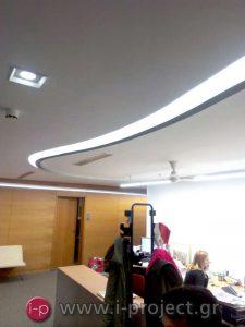 Ανακαίνιση με κατασκευές ξηράς δόμησης στην διαφημιστική εταιρία TEMPO-OMD στην Πααλλήνη Αττικής