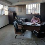 κατασκευές με τσιμεντοσανίδες και γυψοσανίδες στα νέα γραφεία της i-project ΕΠΕ, στην Αθήνα