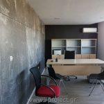 κατασκευή με τσιμεντοσανίδα για τα γραφεία της i-project ΕΠΕ